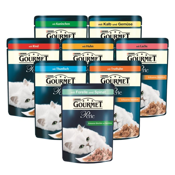Gourmet perle Erlesene Streifen 80x85g Mixpaket
