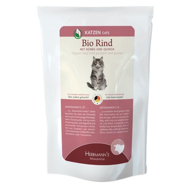 Herrmanns Bio Katzenfutter Rind mit Kürbis und Quinoa 12x200g