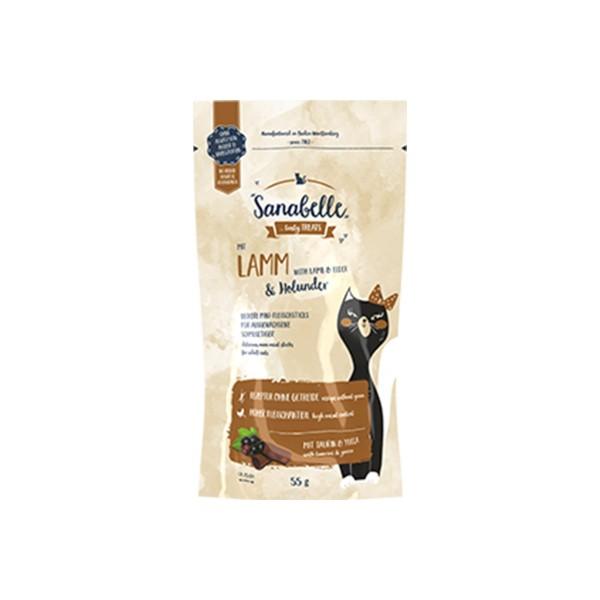 Sanabelle Katzensnack Lamm & Holunder 55g