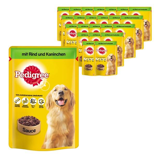 Pedigree Hundefutter Rind und Kaninchen in Sauce