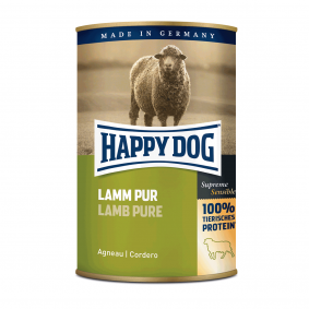 Happy Dog Hundefutter Lamm Pur 24x400g
