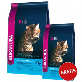 Eukanuba Katzenfutter Top Condition 7+ Mature/Senior Huhn 2kg + 400g gratis
