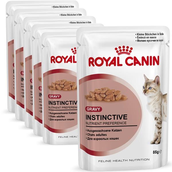 royal canin katzenfutter instinctive in sosse 6 x 85g. Black Bedroom Furniture Sets. Home Design Ideas