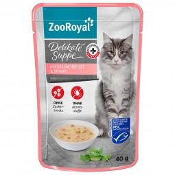 ZooRoyal Delikate Suppe mit Seelachsfilet und Spinat