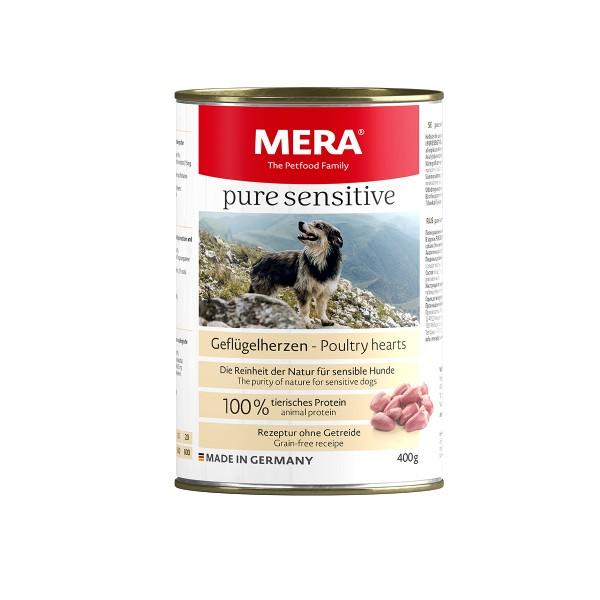 MERA pure sensitive Nassfutter Geflügelherzen