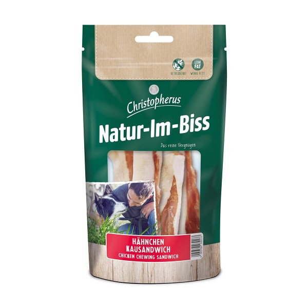 Christopherus Hundesnack Natur-Im-Biss Kausandwich 70g