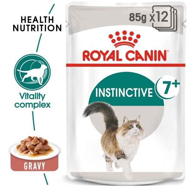 ROYAL CANIN INSTINCTIVE 7+ Nassfutter in Soße für ältere Katzen 12x85g