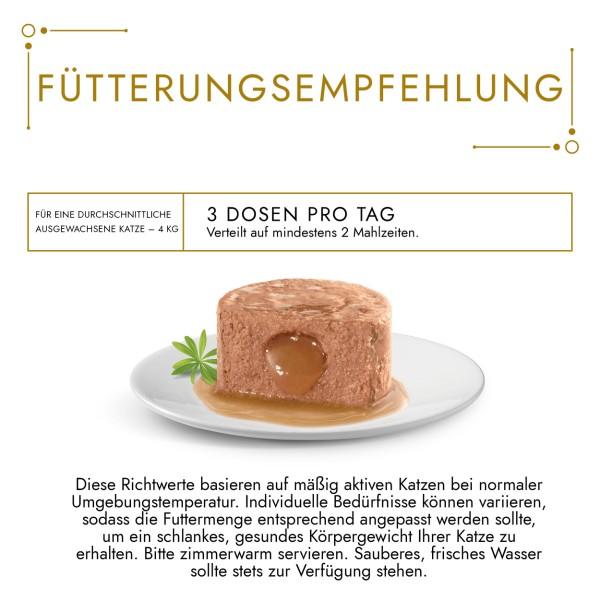 GOURMET Gold Schmelzender Kern Katzennassfutter mit Huhn