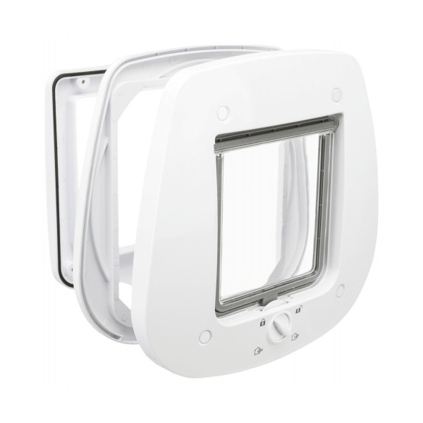 Trixie 4-Wege Katzenklappe für Glastüren