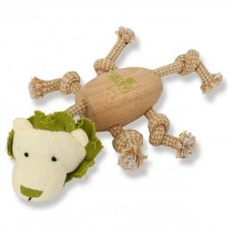 Earthy Pawz Holz Hundespielzeug Löwe 17×25cm