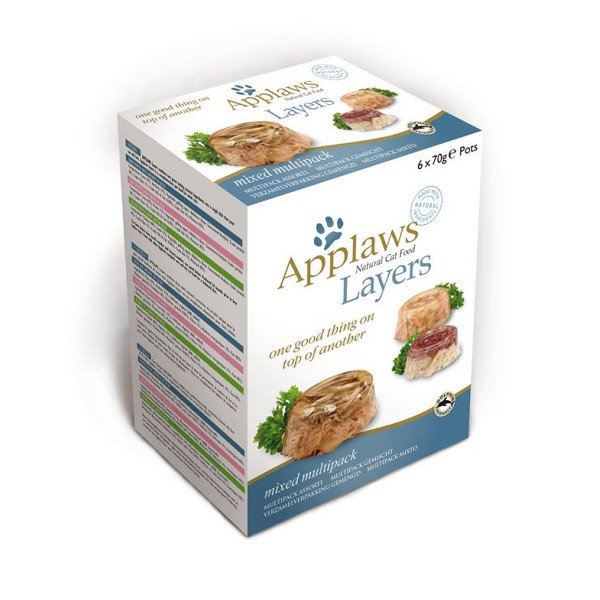 Applaws Cat Layer Multipack Mix 6x70g