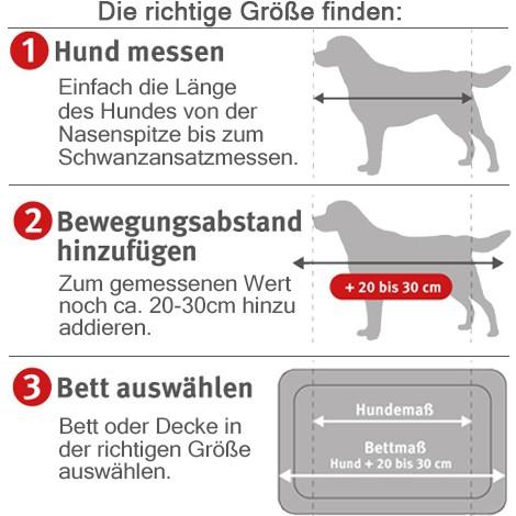 ZooRoyal Hundebett Kian Anthrazit 73 x 60 cm