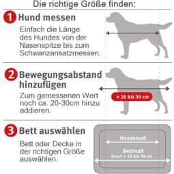 ZooRoyal Orthopädisches Hundekissen Elias rund grau