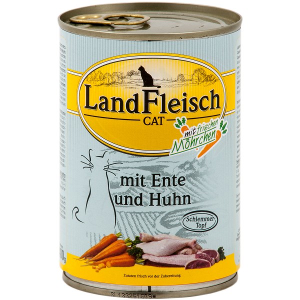 Landfleisch Cat Katzen-Nassfutter Schlemmertopf Ente & Huhn