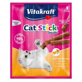 Vitakraft Cat-Stick mini Truthahn & Lamm 3 Stück