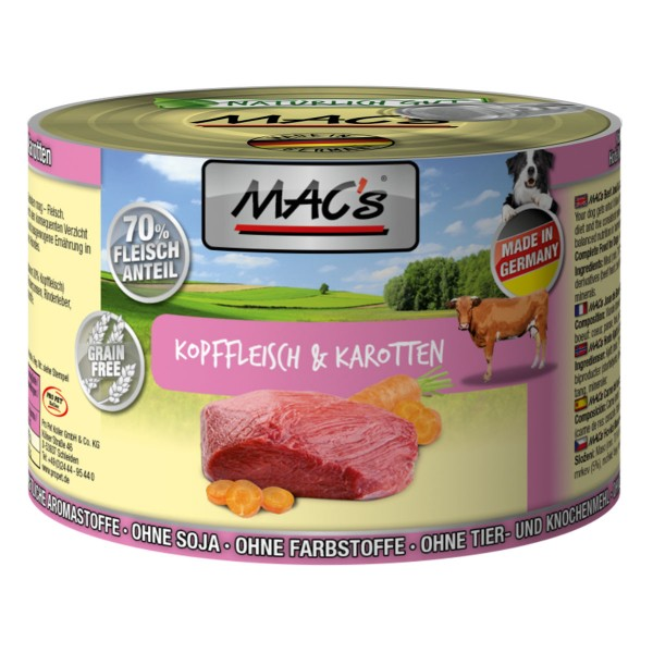 MAC´s Dog MAC´s Dog Kopffleisch & Karotten - 200g