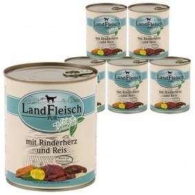 Landfleisch Dog Pur Rinderherz & Reis