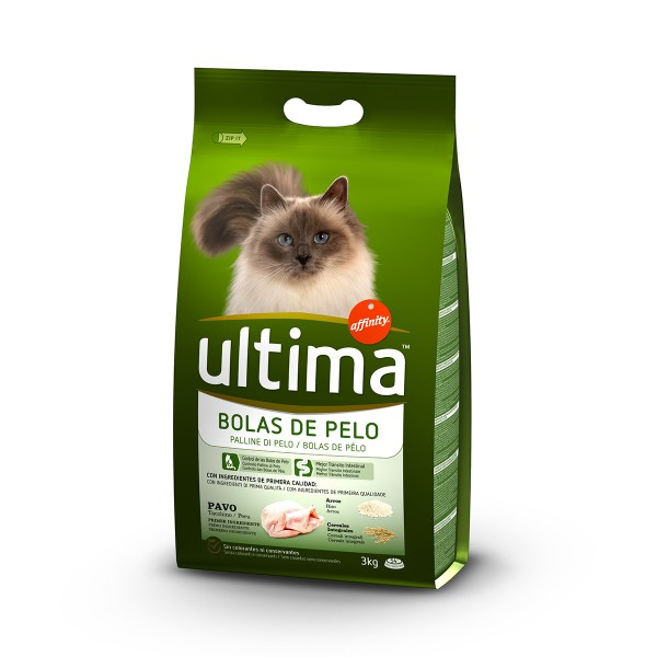 Ultima Cat Trockenfutter Hairball 3kg