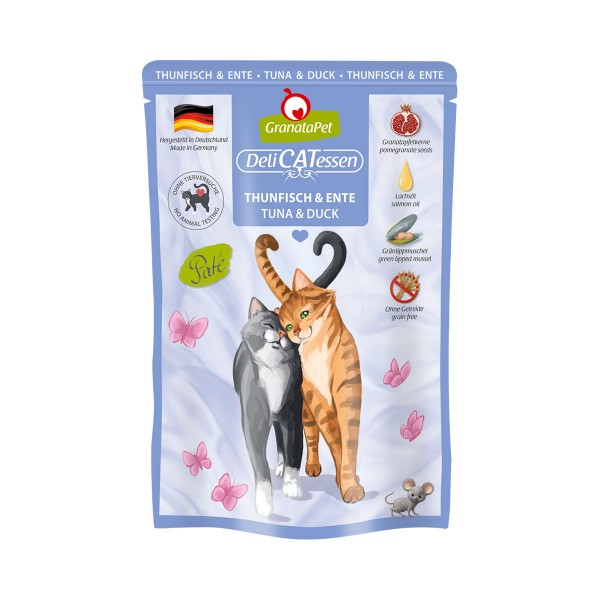 GranataPet Katze - Delicatessen Pouch Thunfisch & Ente