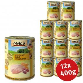 Reuthen Angebote Pro Pet MAC´´s Cat Huhn Pur mit ganzen Geflügelherzen - 12x400g