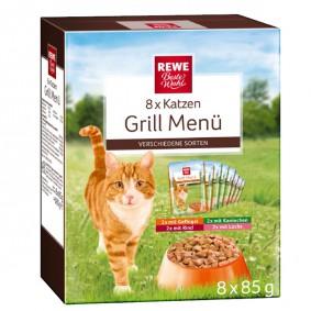REWE Beste Wahl Katzen Grill Menü 8x85g