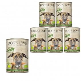 Dog's Love Bio Gartenernte Vegan mit Gemüse und Obst 6x400g