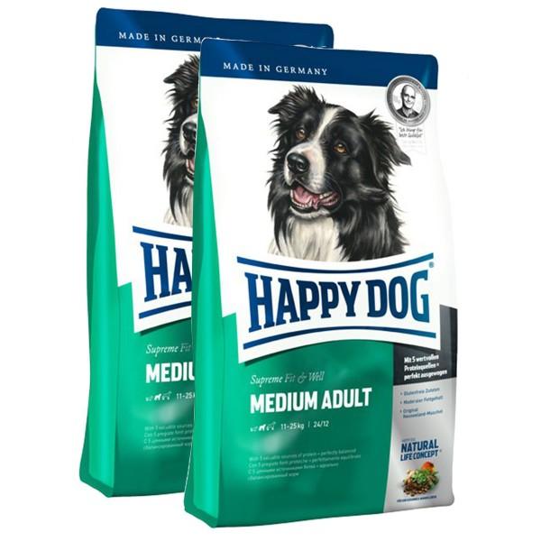 Happy Dog Supreme Fit & Well im Doppelpack verschiedene Sorten