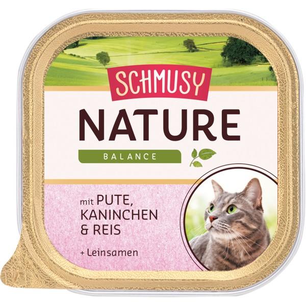 Schmusy Nature Pute, Kaninchen, Reis & Mineralerde 16x100g