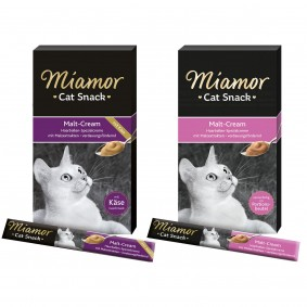Miamor Cat Snack Cream, variace chutí, 2 × 6 × 15 g