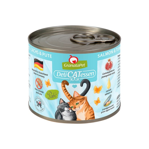 GranataPet Katze - Delicatessen Dose Lachs & Pute