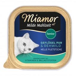 Miamor Milde Mahlzeit Senior Geflügel Pur & Rehwild
