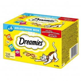 Dreamies Selection Box kuřecí maso, sýr, losos ahovězí