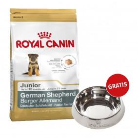 Royal Canin German Shepherd Junior 12kg + Edelstahlnapf silber gratis