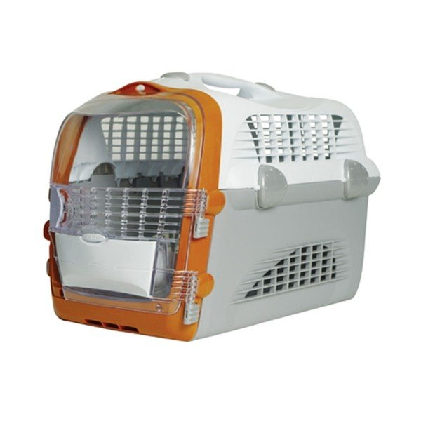 Catit Transportbox Pet Cargo Cabrio - weiß-grau-orange