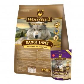 Wolfsblut Range Lamb Adult 15kg + Wolfsblut Squashies Black Bird 300g gratis