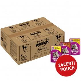 Whiskas Adult 1+ Geflügelauswahl in Sauce 84x100g
