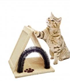 ZooRoyal Katzenkratzbrett mit Bürste