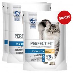 Perfect Fit Katzenfutter Indoor 1 + reich an Huhn 1,4kg 2+1 gratis