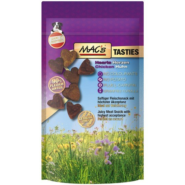 MAC's Dog Hundesnack Tasties Hearts 4x60g