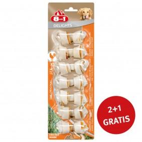 8in1 Delights Kauknochen Chicken/Huhn  XS 7 Stück 2+1 GRATIS