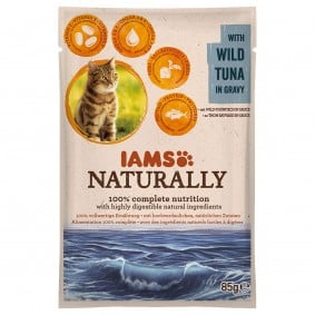 IAMS Naturally Katze Nassfutter Adult Thunfisch in Sauce