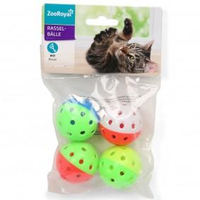 ZooRoyal míčky s chrastítkem balení 4 ks