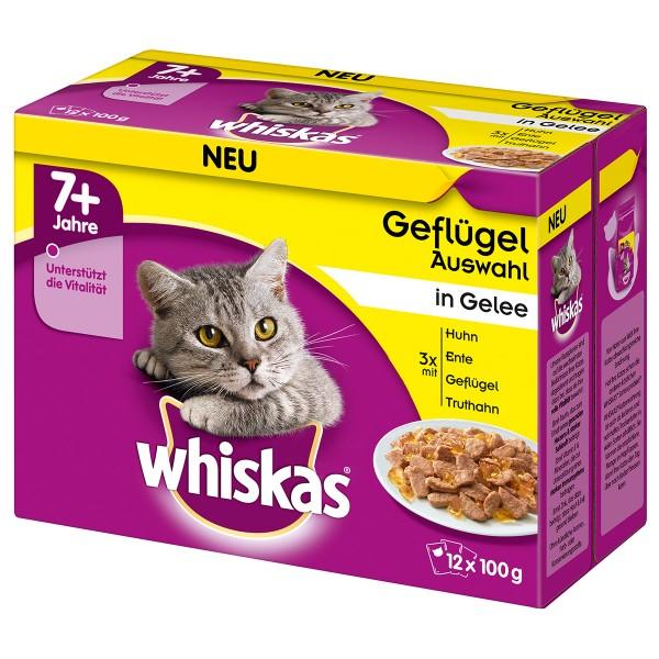 Whiskas Senior 7+ Geflügelauswahl in Gelee 12x100g
