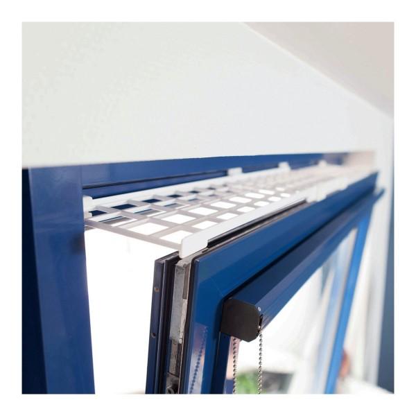 Trixie Schutzgitter für Fenster oben/unten ausziehbar 75–125×16cm weiß