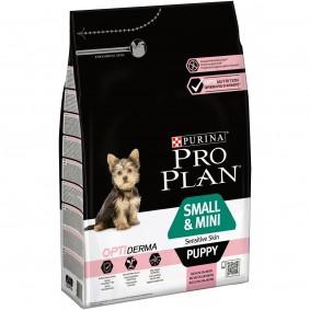 Pro Plan OPTIDERMA Sensitive Skin Small Puppy 4x3kg + 3kg gratis