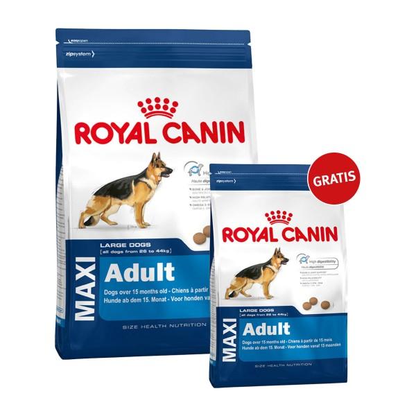 Royal Canin Maxi Adult 15kg+4kg gratis