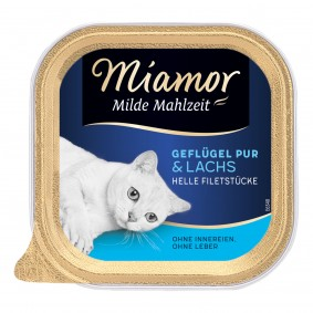 Miamor Milde Mahlzeit Geflügel Pur & Lachs