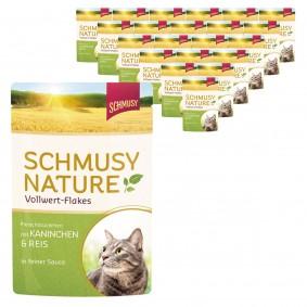 Schmusy Nature Vollwert-Flakes Kaninchen & Reis 22x100g
