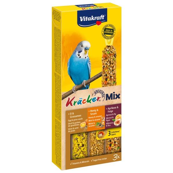 Vitakraft Kräcker Trio mit Ei, Frucht und Honig für Sittiche