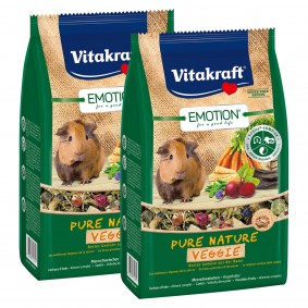 Vitakraft Emotion Pure Nature Veggie Meerschweinchen 2x600g